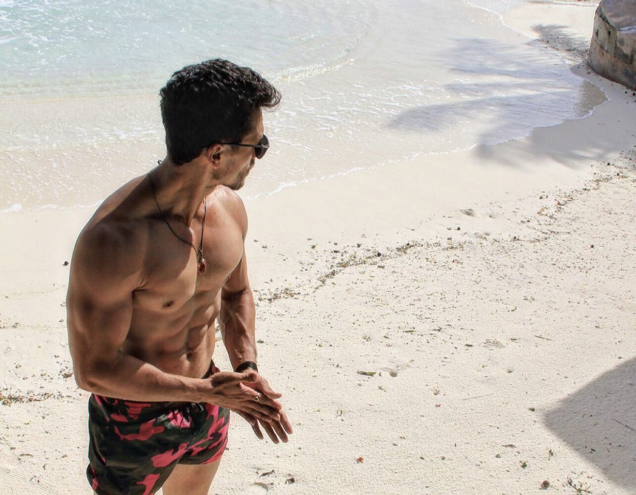 Tiger Shroff flaunts his 'beachhh' body with a sultry PIC; Disha Patani finds it 'hot'